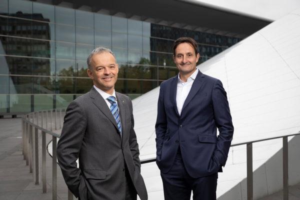 Michel Reckinger (nouveau Président de l'UEL à compter du 1 janvier 2021) et Nicolas Buck (Président sortant de l'UEL) © Laurent Antonelli